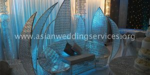 Crystal Lotus Chair - Asian Wedding Stages Reading