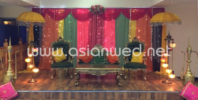 Mehndi Stage Decoration Dailymotion : Mehndi stage hire decoration decor