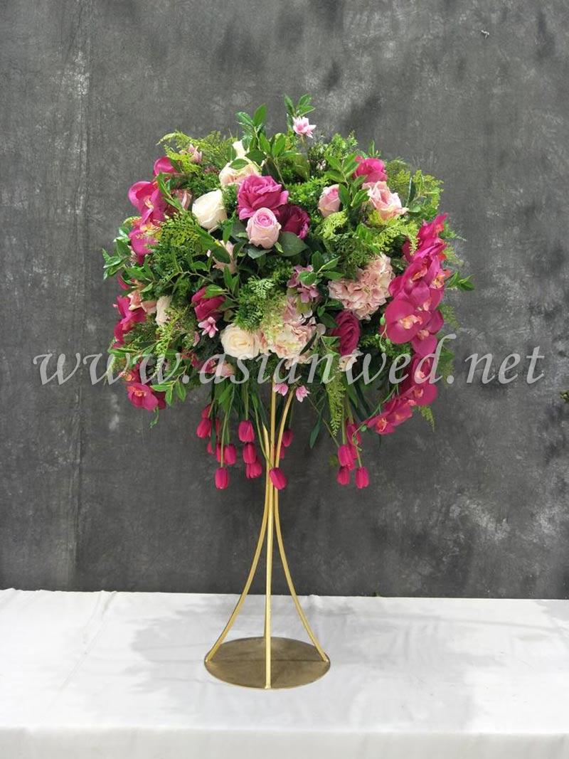 Large green & pink 75cm flower ball
