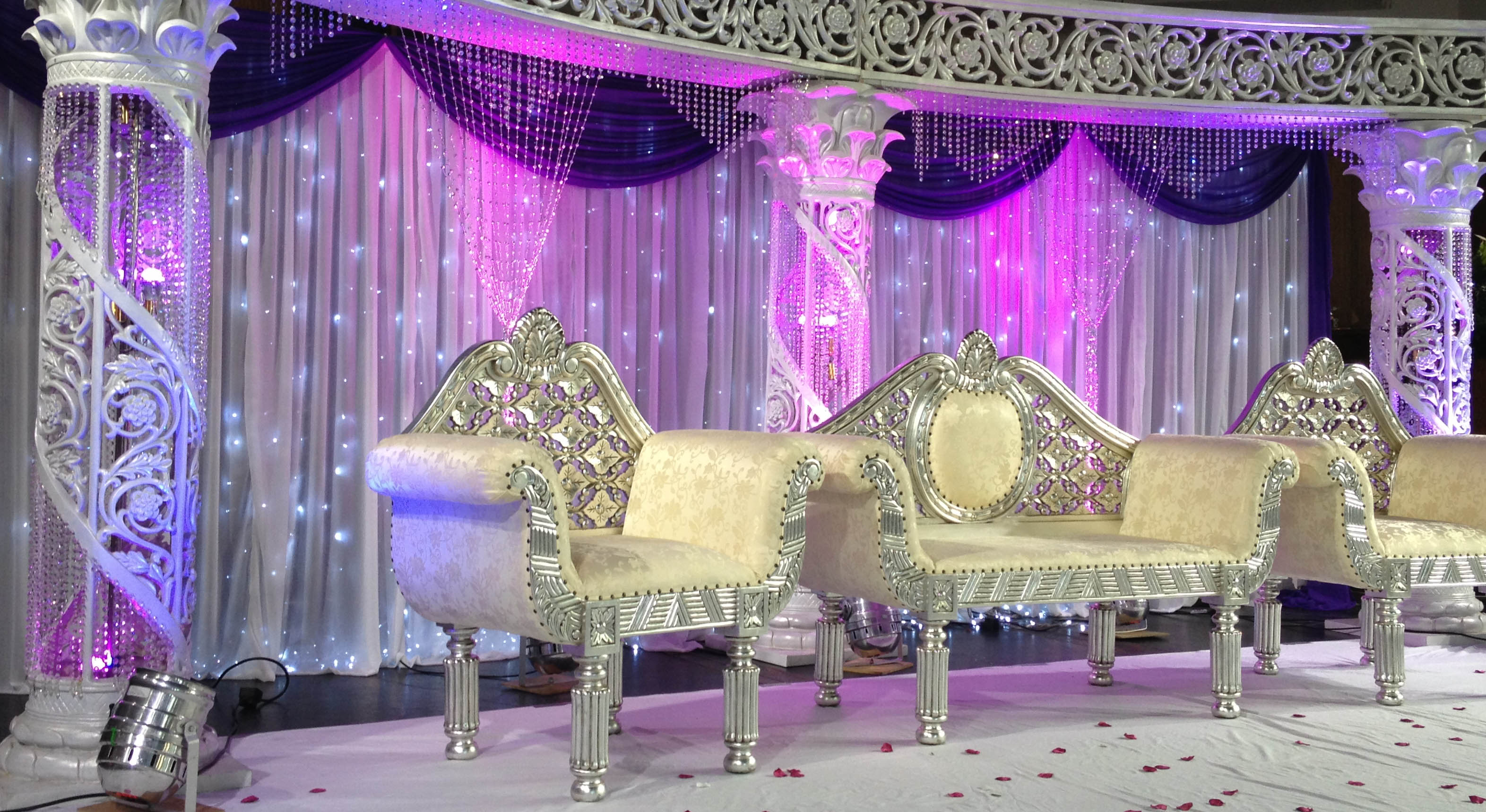 Asian Wedding Stages , Asian Wedding Services , Mehndi Stage